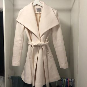 Asos White Coat Size US 2 peacoat style